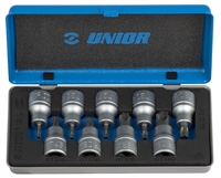 UNIOR 192/12 Set of screwdriver sockets with TX p