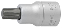 "UNIOR 192/2R 5 Screwdriver socket 1/2"" with Ribe p"