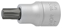 "UNIOR 192/2R 7 Screwdriver socket 1/2"" with Ribe p"